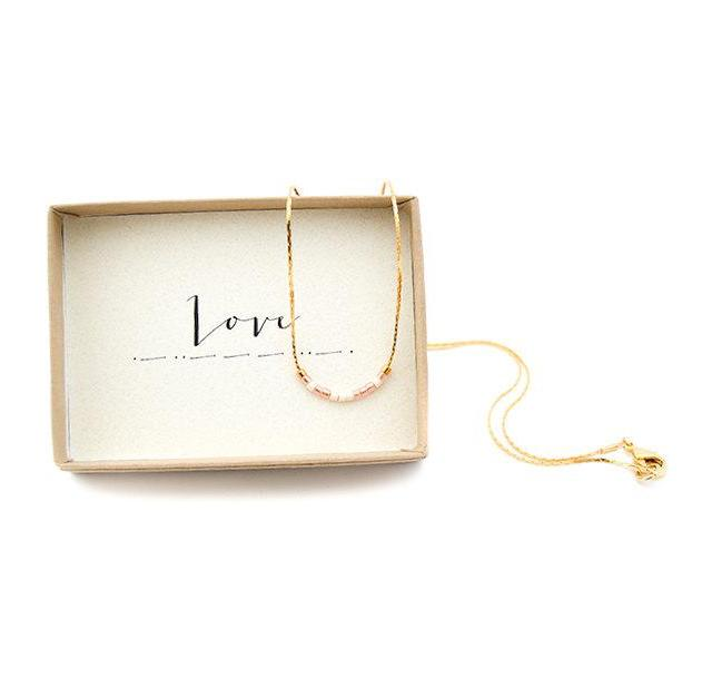 Love Morse Code Chain Necklace