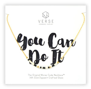 You Can Do It Morse Code Chain Necklace