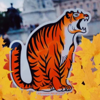 Evil Tiger Vinyl Sticker