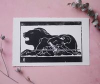 Stay Focus Woodblock Print