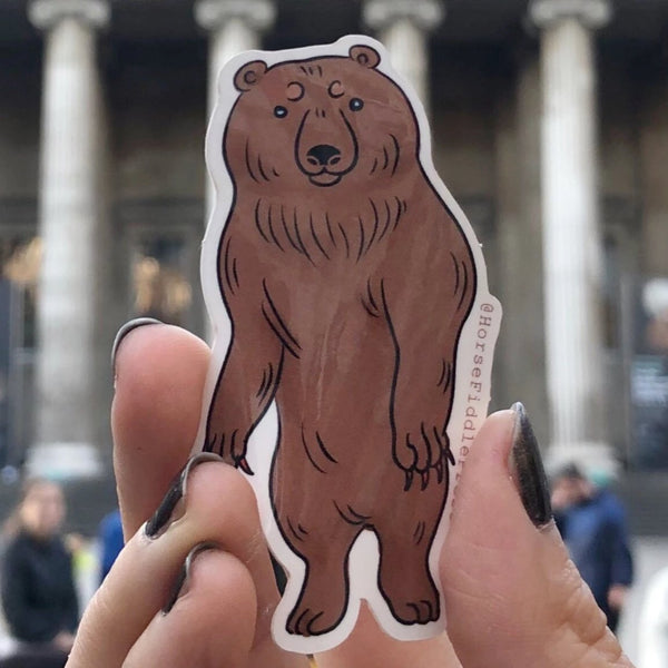Wiggly Bear Vinyl Sticker