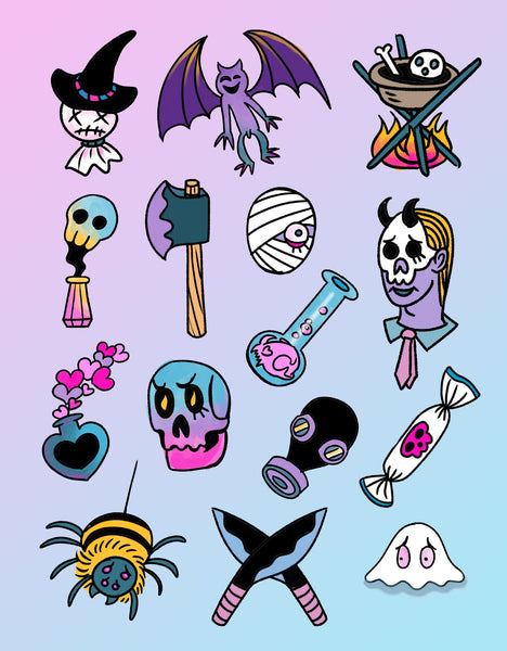 Halloween Stickers set 1