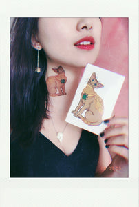 Egyptian cat temporary tattoo