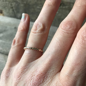 Stacking Ring, 14K Gold Filled, Thick