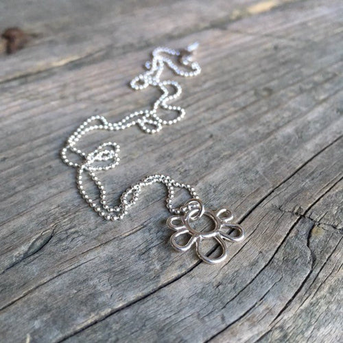 Silver Floral Pendant—Sterling Silver Efflorescence Flower Petal Pendant Necklace—Ready-to-Ship