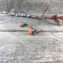 Vintage Glass Ring—Orange Glass Ring—Ready-to-Ship