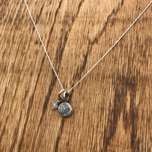 Phoenix Charm Necklace—Stamped, with Birthstone