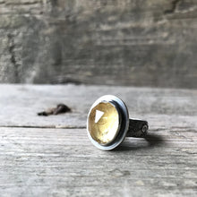 Citrine Ring, Rosecut, US 8, ready-to-ship