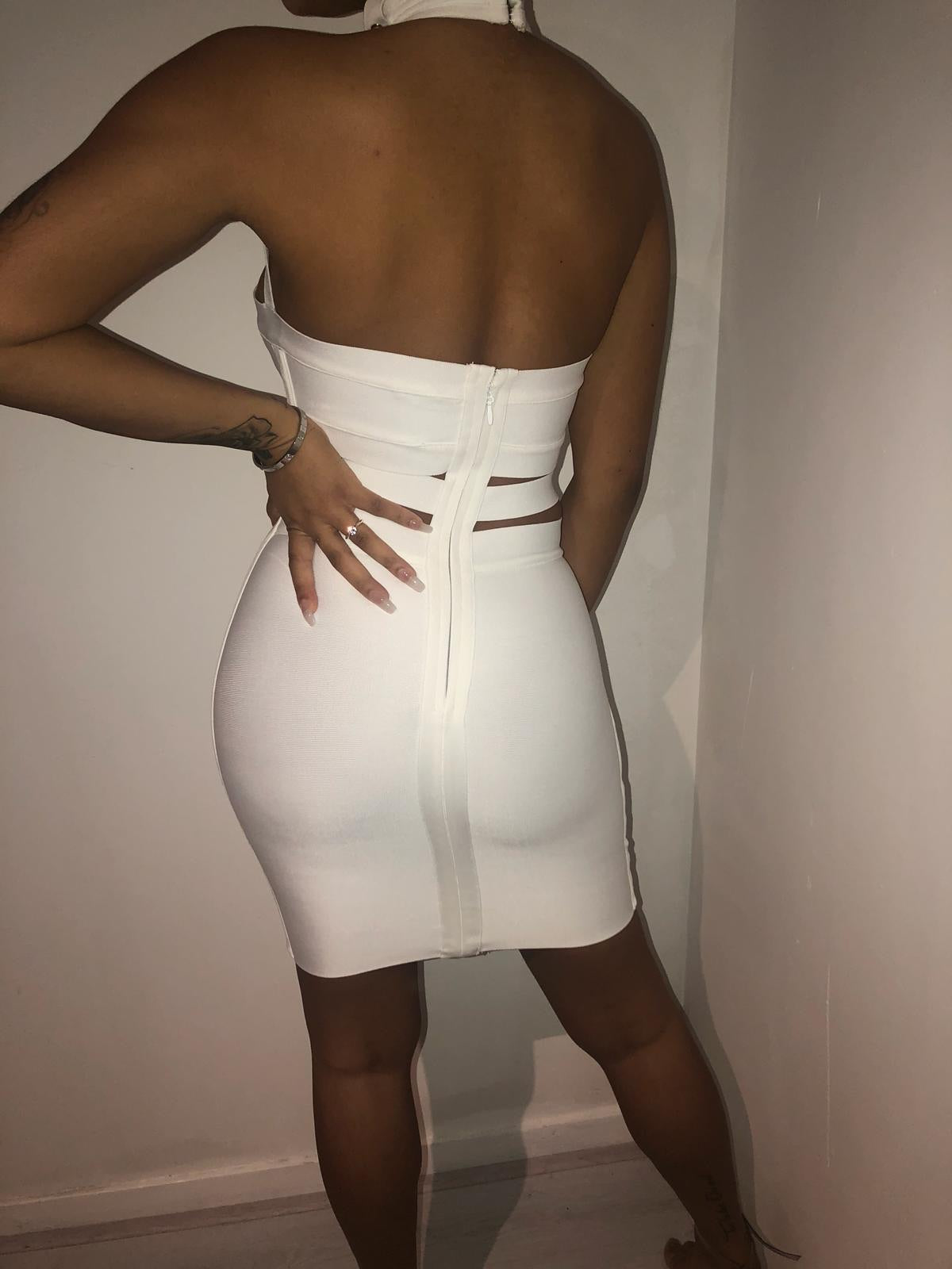 Trophy wife bandage dress