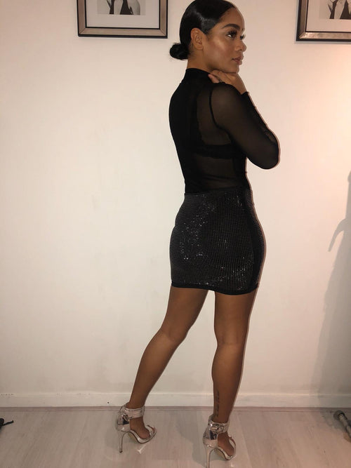 Pushing the sparks all night mini skirt