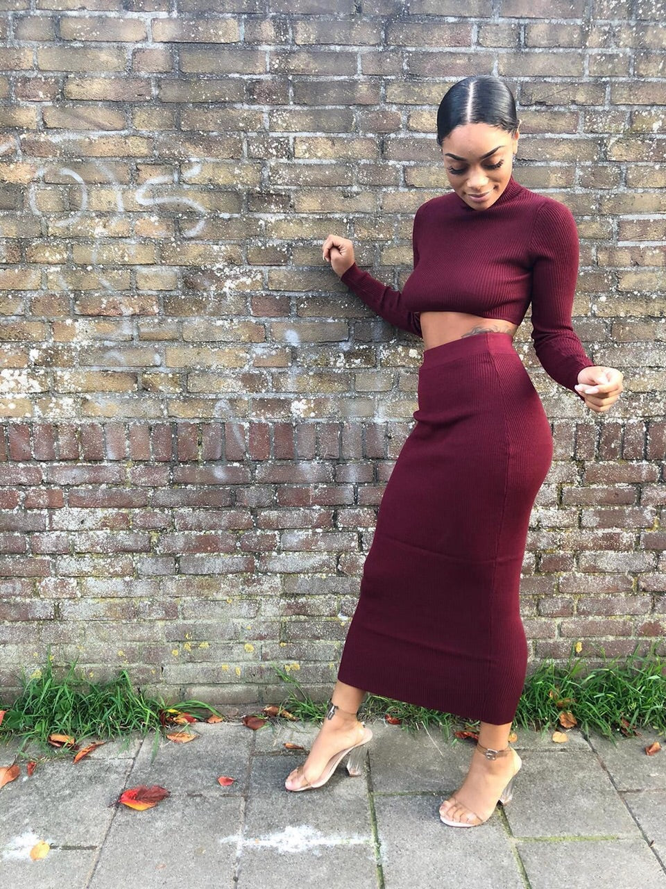 Mandie ribbed 2 piece set