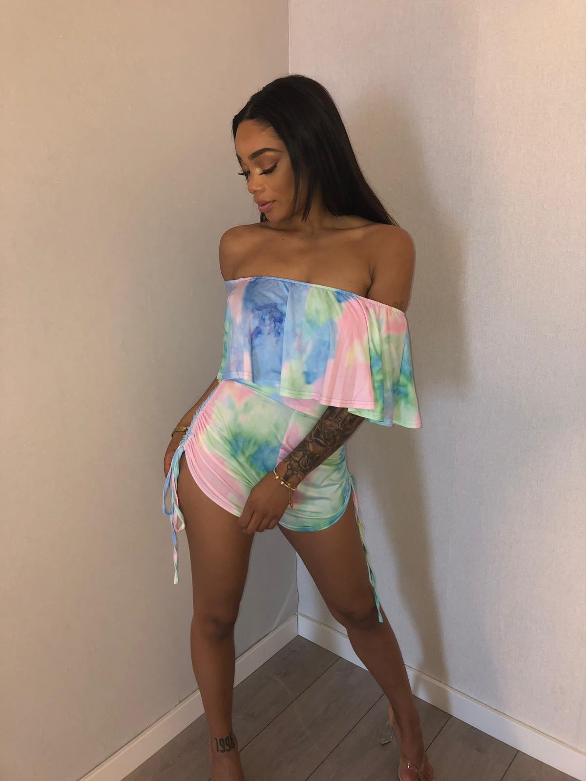 Ocean reef playsuit