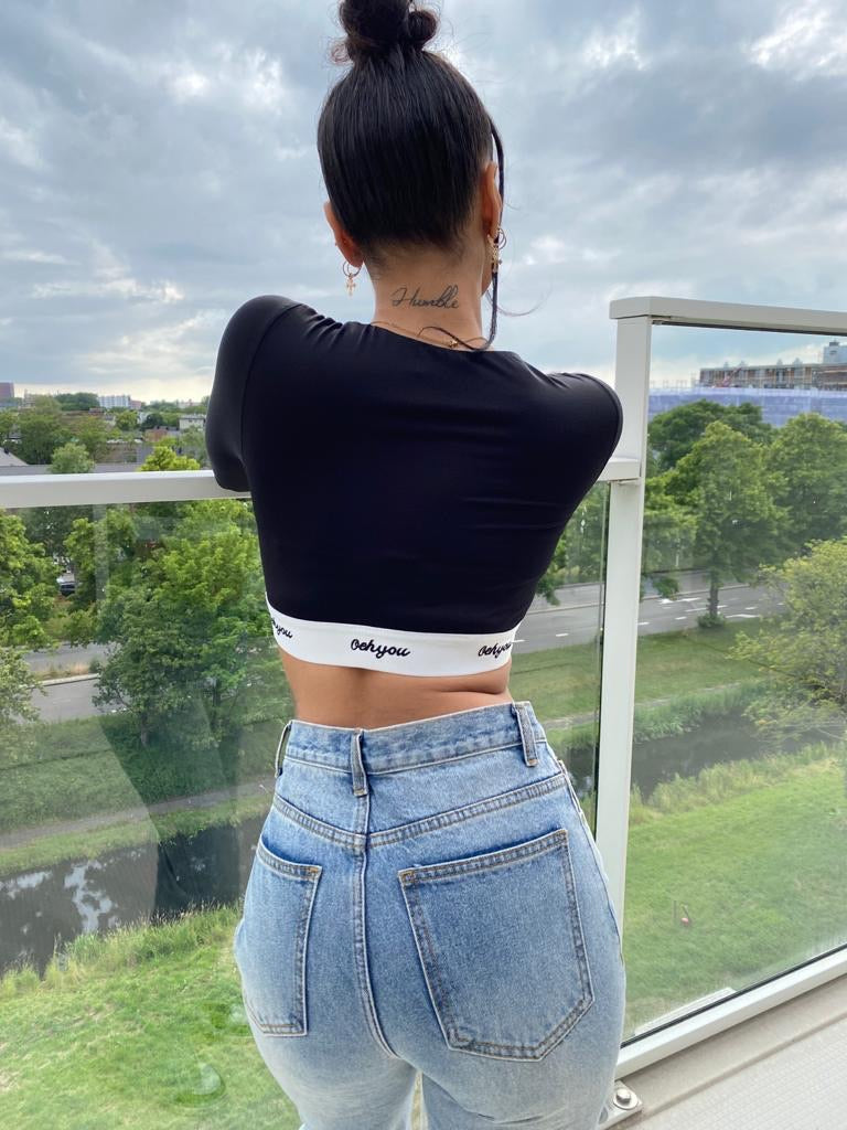 Slinky Long Sleeve Crop Top