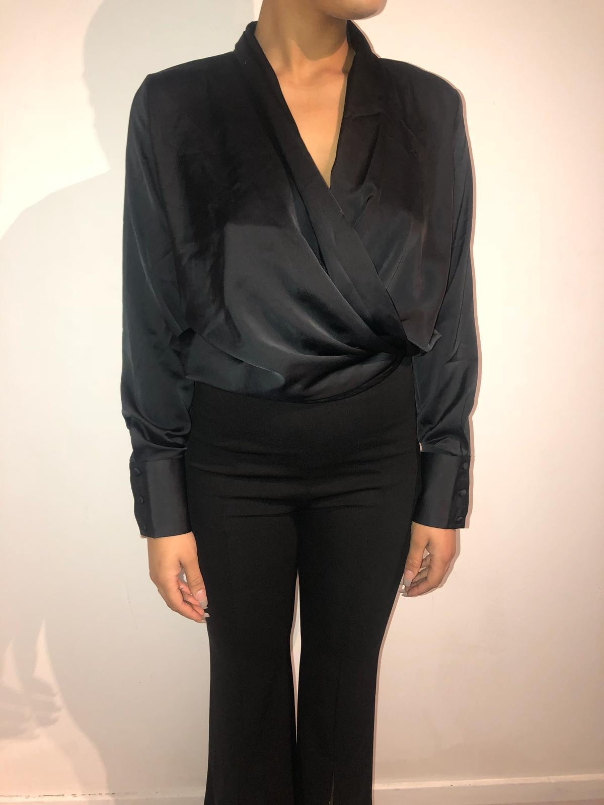 Satin effect blouse