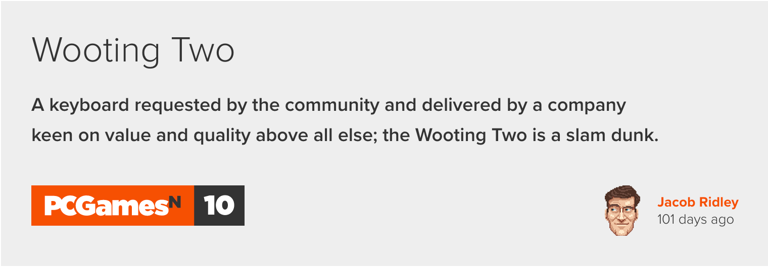 PcgamesN Wooting two review