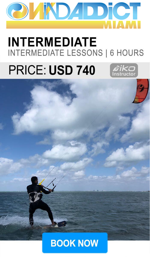 classes intermidiate kitesurfing  in miami