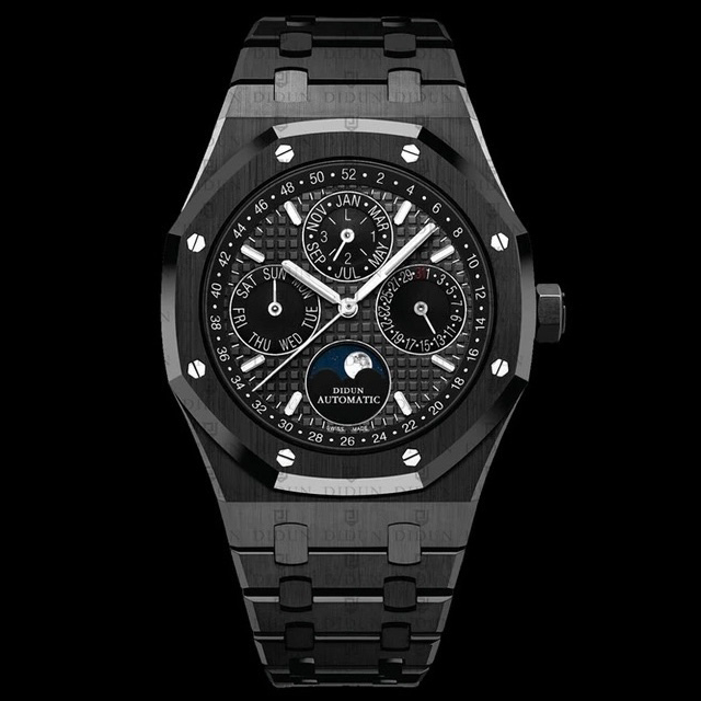Didun Design Royal One Perpetual Calender - Black Edition