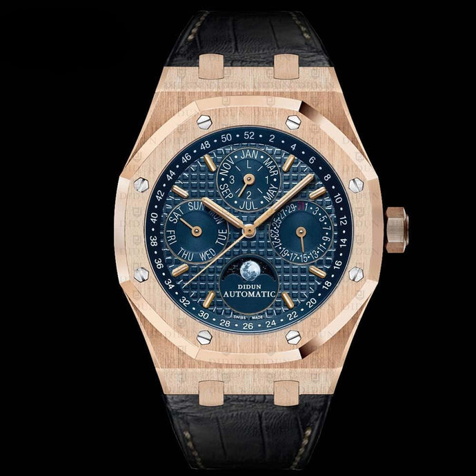 Didun Design Royal One Perpetual Calender - Rose Gold (Leatherstrap)