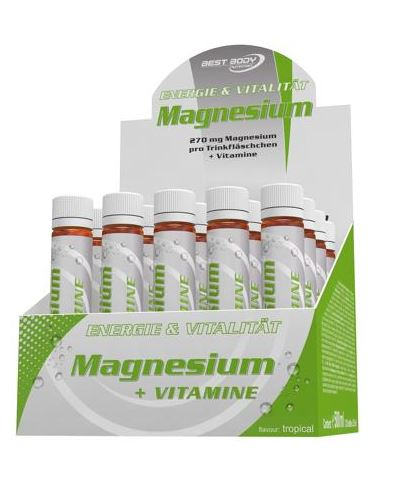 Best Body Nutrition Magnesium, 20 x 25 ml Ampullen - Fitness Line