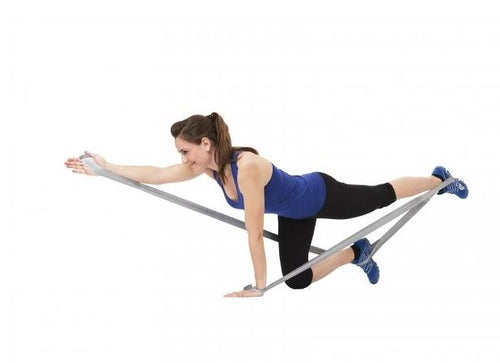 TheraBand CLX Rolle 22m super schwer (Farbe: silber) - Fitness Line