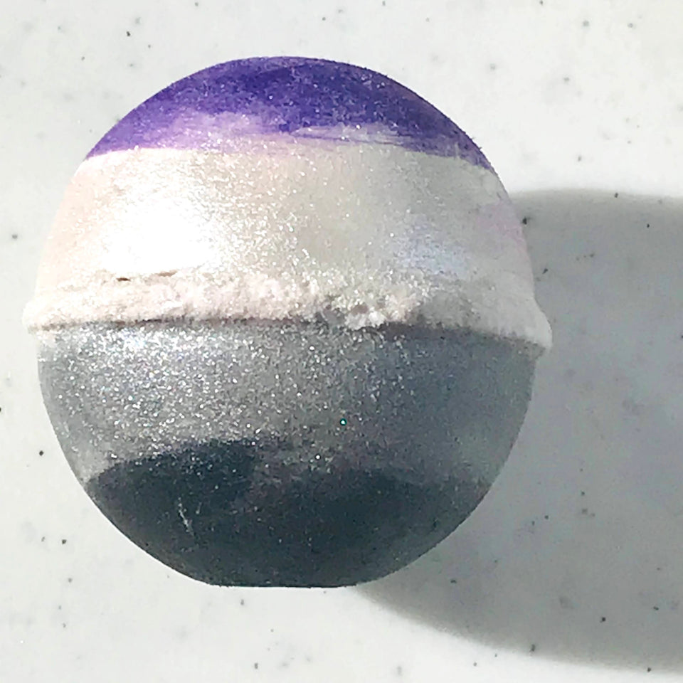 Asexual pride bath products with essential oil blends.
