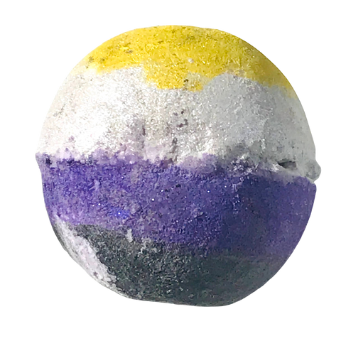 Non Binary pride handmade, natural bath products scented with essential oil blends.