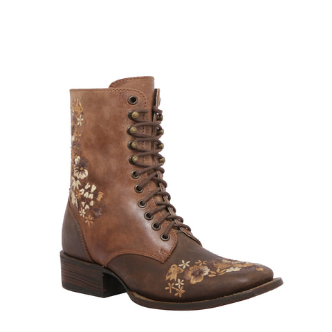 BOTA LACE UP CAFÉ MEA033-B