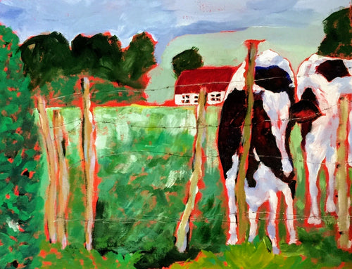 Cows in Red