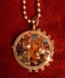 Steampunk Assemblage Pendant Necklace