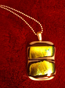Fused Glass Pendant with Green