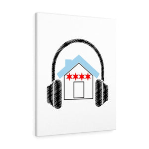 Chicago House Music Premium Wall Canvas
