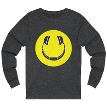 Smiling Headphones Long Sleeve dark grey