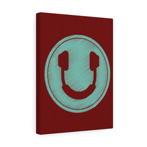 Smiling Headphones V2 Premium Wall Canvas