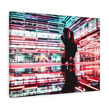 Techno Prism Wall Canvas