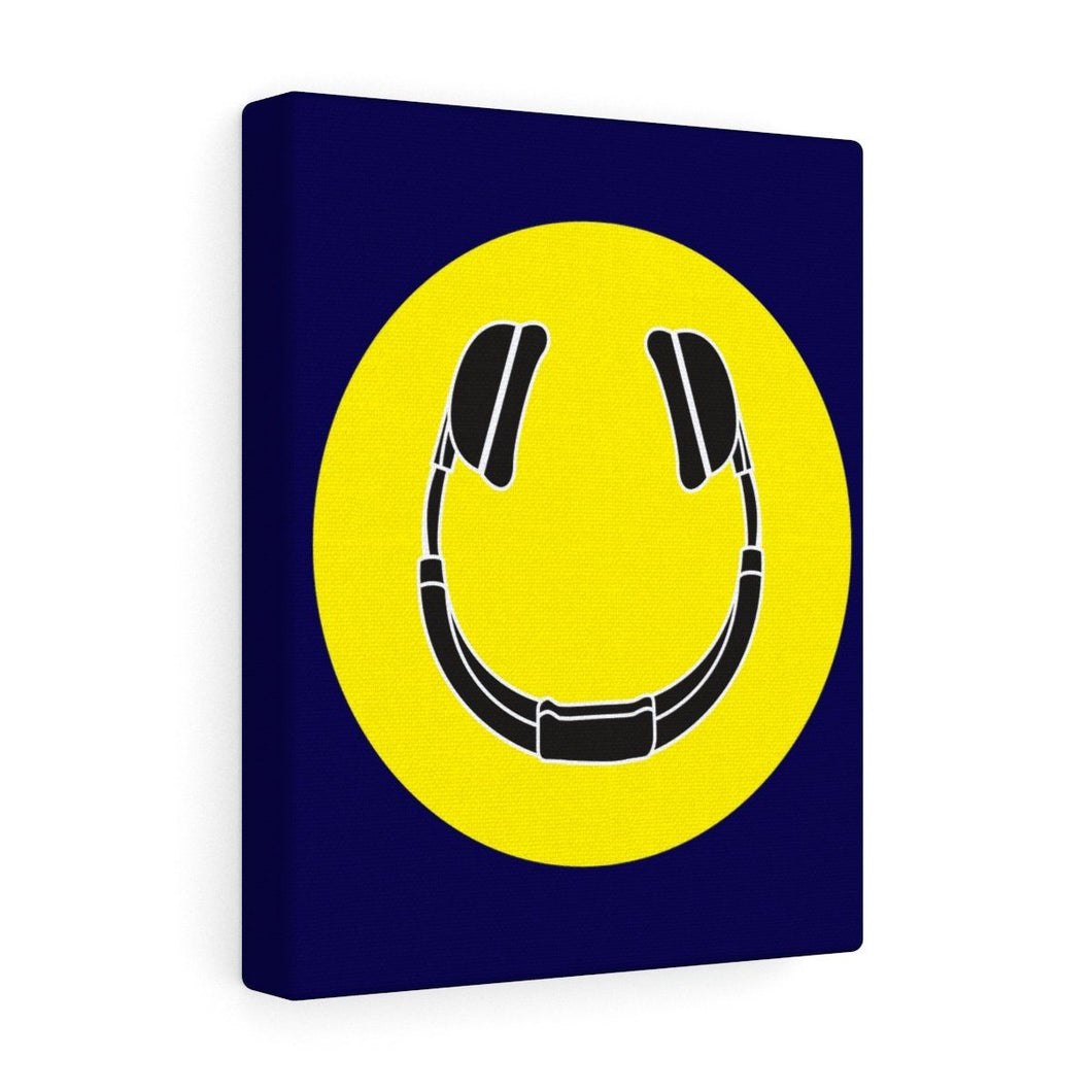 Smiling Headphones Wall Canvas