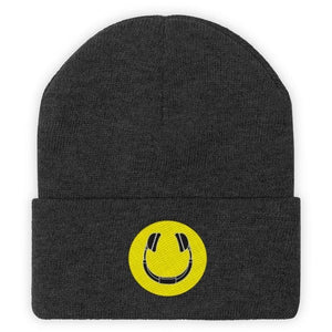Smiling Headphones Beanie