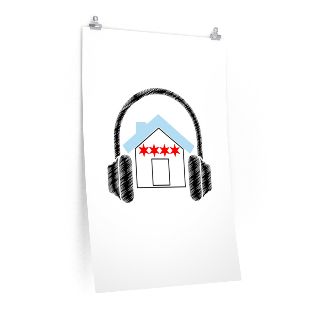 Chicago House Music Premium Matte Poster