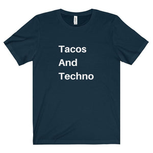 Tacos And Techno shirt navy
