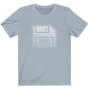 Techno Floppy Disk Shirt light blue