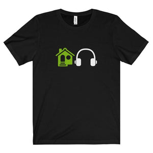 House Music Emoji shirt navy black