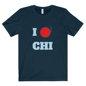 Chicago Dj Love shirt navy