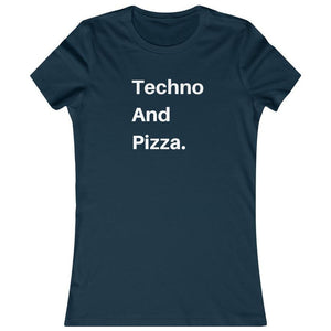 Techno And Pizza Women's shirt navy