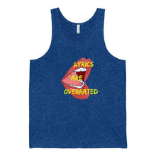 Lyrics Are Overrated Tank Top blue