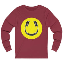 Smiling Headphones Long Sleeve red