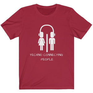 Techno Connecting People Shirt red