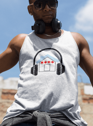 Chicago House Music Flag Tank Top white
