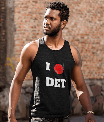 Detroit Dj Love Tank Top black