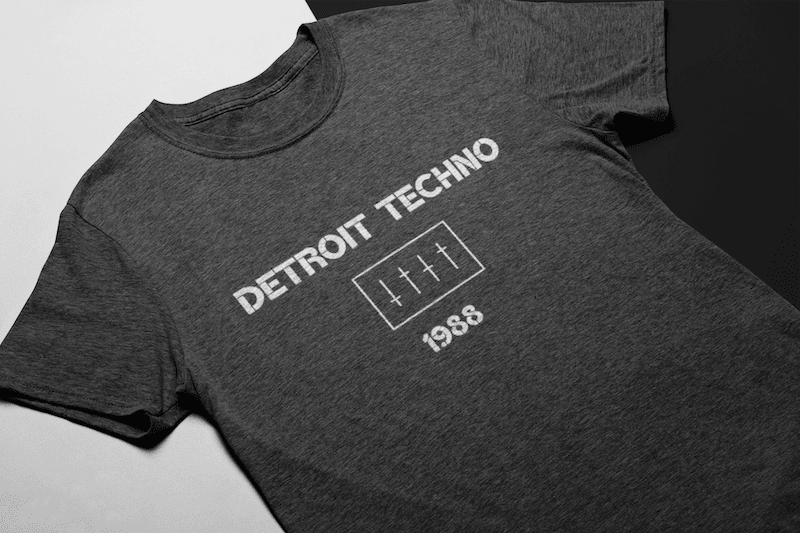 Detroit Techno Shirt Heather Grey