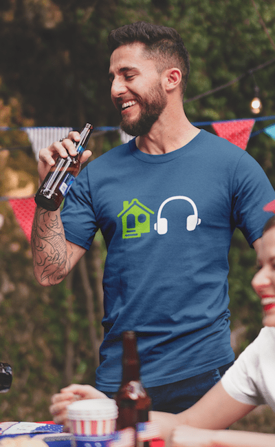 House Music Emoji shirt navy