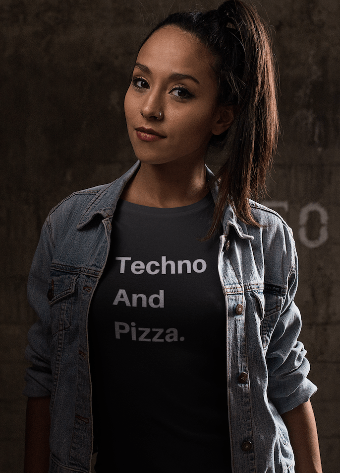 Techno And Pizza Women's shirt black